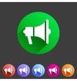 Flat loudspeaker megaphone icon vector image