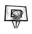Hand sketch basketball hoop vector image