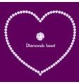 Heart frame made of diamonds vector image