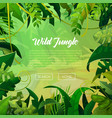 Jungle banner tropical leaves background vector image