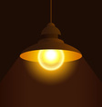 retro lantern vector image