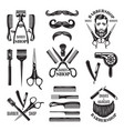 set of different barber shop tools vector image