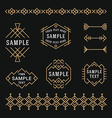 Set of Line Art Decorative Geometric Frames and vector image