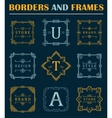 Set of Luxury Borders and Frames vector image