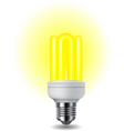 shiny energy saving vector image