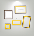 The modern frames on the wall vector image vector image