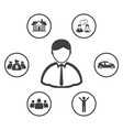 business man and goal dream vector image vector image