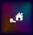 home delivery icon vector image