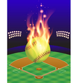 fire softball field vector image vector image