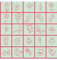 hand drawn seamless print vector image vector image