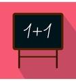School blackboard icon flat style vector image