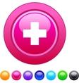 Plus circle button vector image vector image