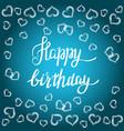 happy birthday gift card vector image