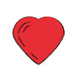 lovely heart symbol vector image