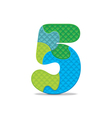 number 5 written with alphabet puzzle vector image