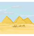 pyramids giza landscape vector image