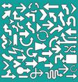 set of arrows icons symbols vector image