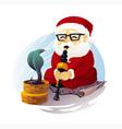 Snake Charmer Santa Claus vector image