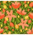 Garden flowers pattern vector image