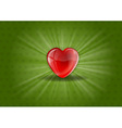 heart background shine green vector image vector image