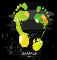 foot print splashes vector image vector image