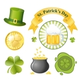 st patricks day icon set vector image vector image