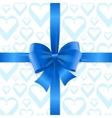 Bow Background Heart vector image