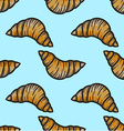 Croissant Patterned Background vector image