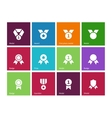 Cup and medal icons on color background vector image