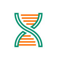 dna icon on white background vector image