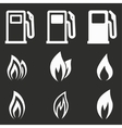 Fuel icon set vector image