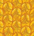 Pineapple peel seamless background Sketch Brown vector image
