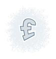 Retro Pound Icon vector image