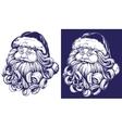 Santa Claus Christmas symbol hand drawn vector image