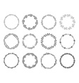 Set of floral wreaths vector image