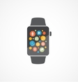 Smart watch on white vector image