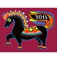 ukrainian tribal ethnic painting unusual horse vector image