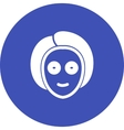Mask on Face vector image