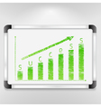 Graph of Success vector image vector image