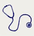Doctors stethoscope vector image