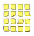 note papers yellow vector image
