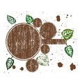 Brown Grunge Circles vector image vector image
