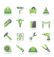 Construction and building Icons vector image