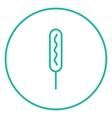 Corn dog line icon vector image