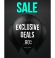 Big Black Balloon Sale Template Exclusive vector image