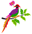 bird and tree cartoon vector image
