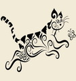 Cat ornament vector image