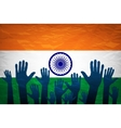 hand with voting sign of India vector image