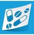 Medicine sticker vector image