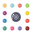 Vinyl turntable flat icons set vector image
